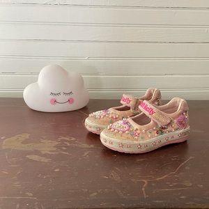 Lelli Kelly Pink Velcro Shoes